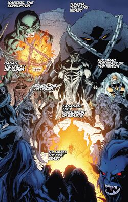 Great Beasts (Earth-616) from Amazing X-Men Vol 2 11 001