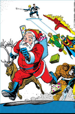 Marvel Holiday Special Vol 1 1991 Back