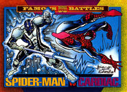Peter Parker (Earth-616) and Elias Wirtham (Earth-616) from Marvel Universe Cards Series IV 0001