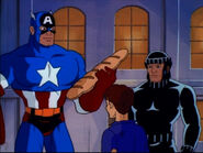 Wolverine (Logan) (Earth-92131) and Steven Rogers (Earth-92131) from X-Men The Animated Series Season 5 11 002