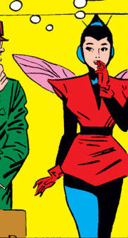 Janet Van Dyne (Earth-616) in her second Wasp costume from Tales to Astonish Vol 1 50 001