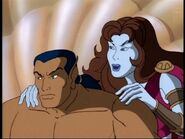 Namor McKenzie (Earth-534834) & Dorma (Earth-534834) from Fantastic Four (1994 animated series) Season 1 3 0002