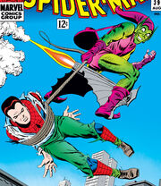 Peter Parker (Earth-616) the Green Goblin learns Peter's double identity from Amazing Spider-Man Vol 1 39