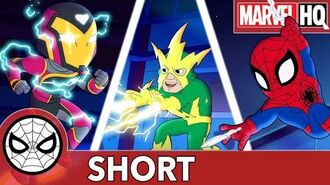 Spidey and Ironheart Short-Circuit Electro! Marvel Super Hero Adventures - Charge Ahead SHORT
