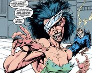 Callisto (Earth-616) and Healer (Morlock) (Earth-616) from Uncanny X-Men Vol 1 291 001