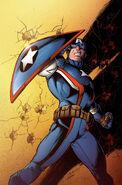 Captain America Steve Rogers Vol 1 2 Bagley Variant Textless