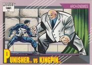 Frank Castle vs. Wilson Fisk (Earth-616) from Marvel Universe Cards Series II 0001