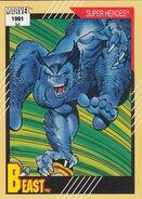 Henry McCoy (Earth-616) from Marvel Universe Cards Series II 0001