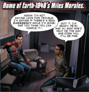 Peter Parker (Earth-1048) and Miles Morales(Earth-1048) from Spider-Geddon Vol 1 001