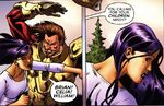 Elizabeth Braddock (Earth-80911) and Slaymaster (Earth-1720) from New Exiles Vol 1 11 0001