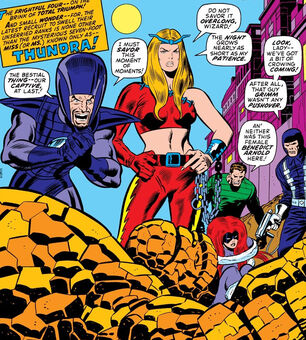 Frightful Four (Earth-616) Wizard, Thundra, Sandman, Trapster from Fantastic Four Vol 1 130