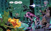 Tribe (Inhumans) (Earth-17037) vs. Mercs for Money (Earth-17037) from Deadpool & the Mercs for Money Vol 2 7 001