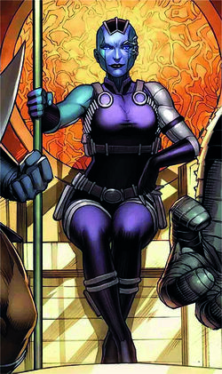 Nebula (Earth-616) from Asgardians of the Galaxy Vol 1 2 cover 001