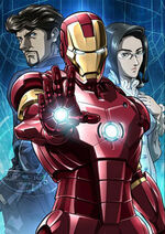 Anthony Stark (Earth-101001) and Chika Tanaka (Earth-101001) from Marvel Anime Season 1 Promo 0001