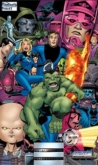 Fantastic Four (Earth-523003) from What If Doctor Doom Had Become the Thing? Vol 1 1 0001