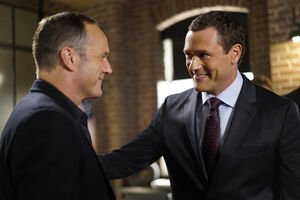 Phillip Coulson (Earth-199999) and Jeffrey Mace (Earth-199999) from Marvel's Agents of S.H.I.E.L.D. Season 4 2