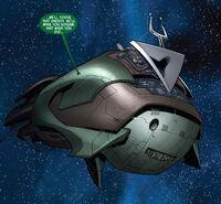 Skrull Battleship Ryb'ik from Secret Invasion Inhumans Vol 1 1 0001