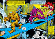 Fantastic Four (Earth-616) and Desmond Pitt (Earth-616) take the battle to Doctor Doom from Fantastic Four Vol 144 001