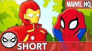 Spidey's Swiping Makes a Mess with Iron Man! Marvel Super Hero Adventures - Mine! SHORT