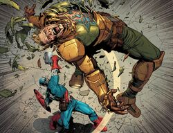 Steven Rogers (Earth-616) vs. Steven Rogers (Earth-61311) from Secret Empire Vol 1 10 002