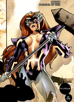 Mary MacPherran (Earth-616) and Skirn (Earth-616) from Fear Itself Vol 1 2 0001