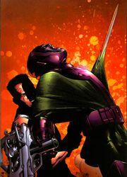 Nathaniel Richards slaying his future self Kang in Young Avengers Vol 1 5