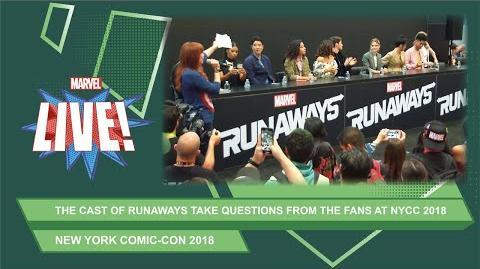 The cast of Marvel's The Runaways talk season 2 at NYCC 2018!
