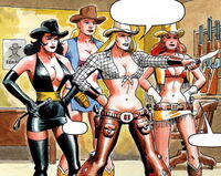 Cowgirls from Hell (Earth-616) Immortal Iron Fist Orson Randall and the Green Mist of Death Vol 1 1