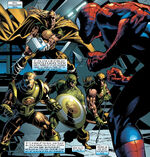 Peter Parker (Earth-616) and Hydra Four (Earth-616) from Amazing Spider-Man Vol 1 523 0001