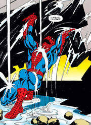 Peter Parker (Earth-616) frees himself in order to save Aunt May's life from Amazing Spider-Man Vol 1 33