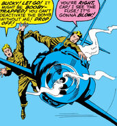 Steven Rogers (Earth-616) Just before the drone plane exploded in 1945 from Avengers Vol 1 4