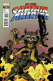 All-New Captain America Vol 1 1 Rocket Raccoon and Groot Variant