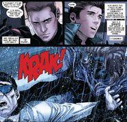 Kaine Parker (Earth-616) kills Otto Octavius (Earth-616) in Superior Spider-Man Team-Up Vol 1 2
