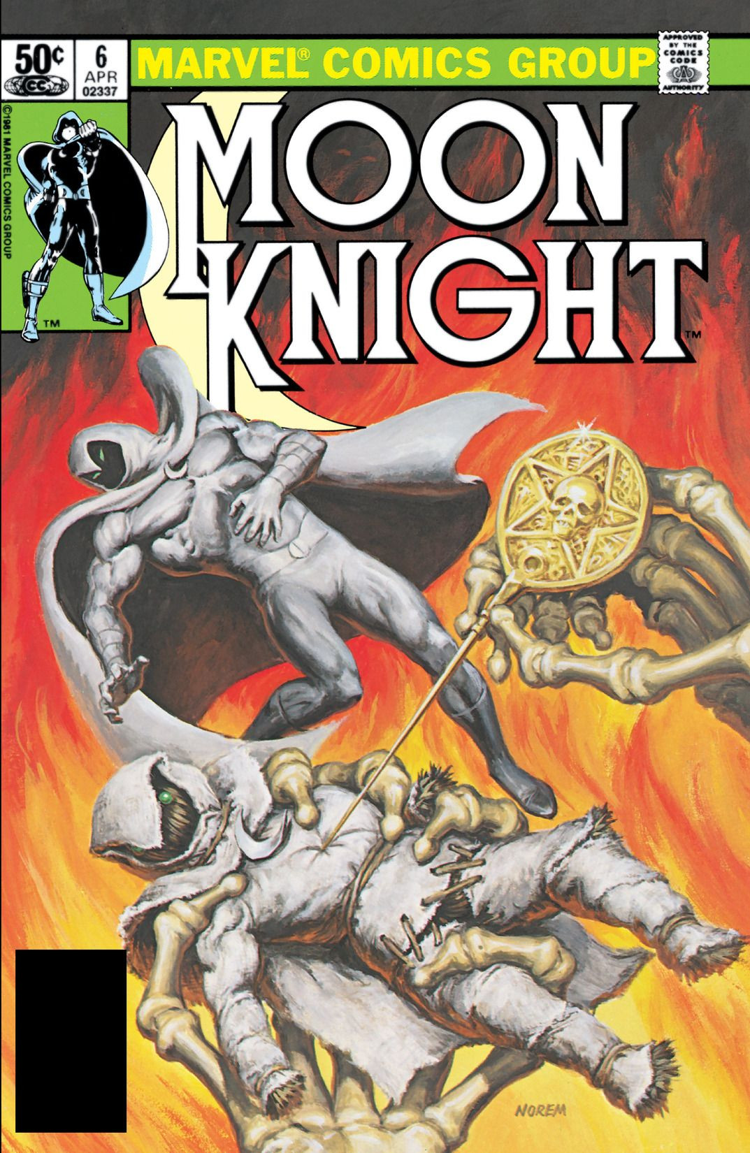 Image result for moon knight vol 1 issue 6