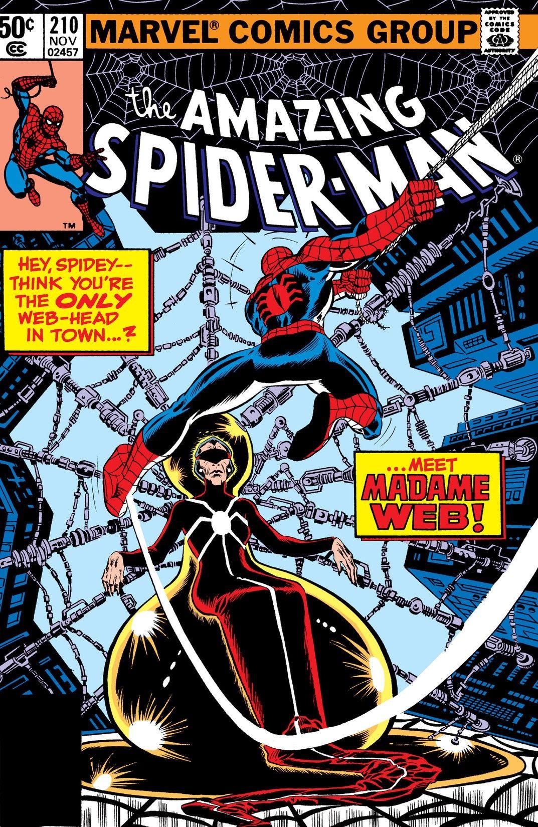 Image result for Madame Web comics spiderman  210
