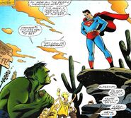 Bruce Banner (Earth-7642) and Kal-El (Earth-7642) from Incredible Hulk vs. Superman Vol 1 1 001