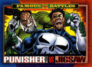 Frank Castle (Earth-616) and Billy Russo (Earth-616) from Marvel Universe Cards Series IV 0001