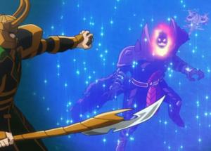 Loki Laufeyson (Earth-14042) vs. Dormammu (Earth-14042) from Marvel Disk Wars The Avengers Season 1 50 001