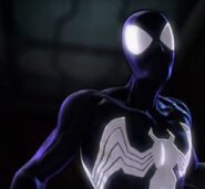 Peter Parker (Earth-TRN580) and Venom (Symbiote) (Earth-TRN580) from Spider-Man Shattered Dimensions 002