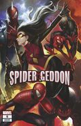 Spider-Geddon Vol 1 5 Lee Connecting Variant