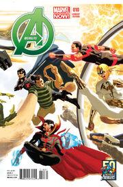 Avengers Vol 5 10 50 Years of Avengers Variant