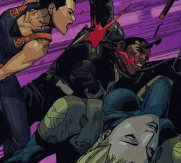 Monica Chang (Earth-1610), Eric Brooks (Earth-1610), and Carol Danvers (Earth-1610) from Ultimate Avengers vs. New Ultimates Vol 1 3 0001