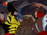 Yuriko Oyama (Earth-92131) and Wolverine (Logan) (Earth-92131) from X-Men The Animated Series Season 3 2 0004