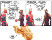 Owen Reece (Earth-616), Miles Morales (Earth-1610) and Peter Parker (Earth-616) from Secret Wars Vol 1 6 001