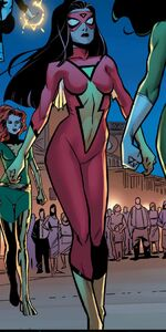 Jessica Drew (Earth-16191) from A-Force Vol 1 1 001