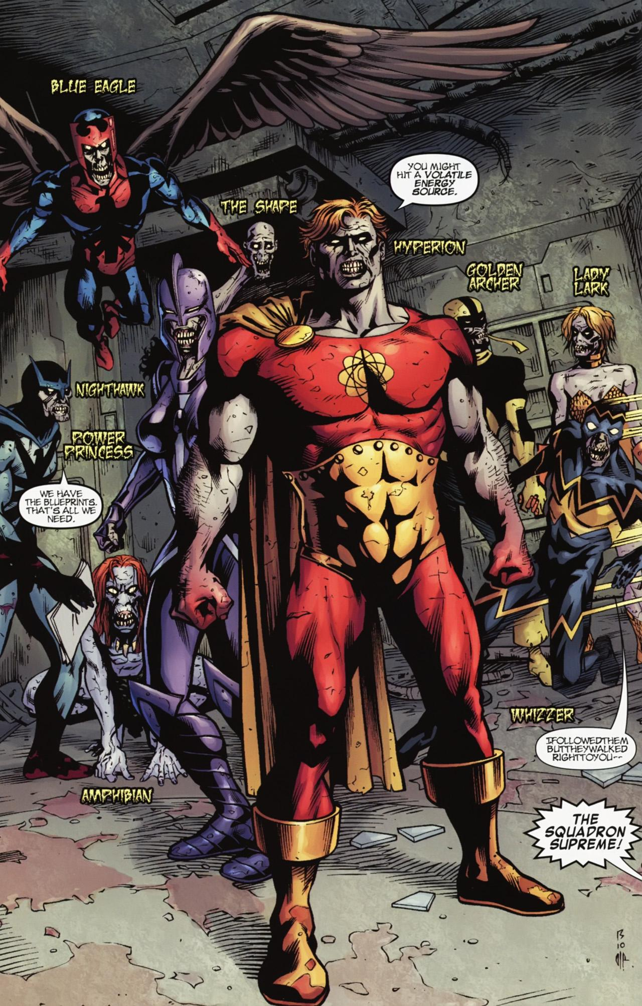 Squadron Supreme Zombies Earth 616 Marvel Database Fandom