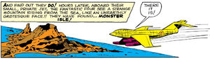 Monster Isle from Fantastic Four Vol 1 1 001