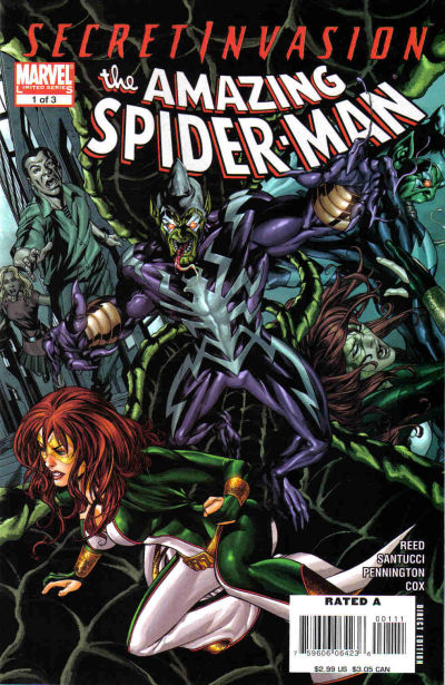 Secret Invasion Amazing Spider-Man Vol 1 1