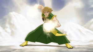 Danny Rand (Earth-12041) using his power