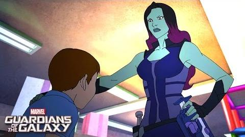 Gamora Strikes! Marvel Guardians of the Galaxy Disney XD